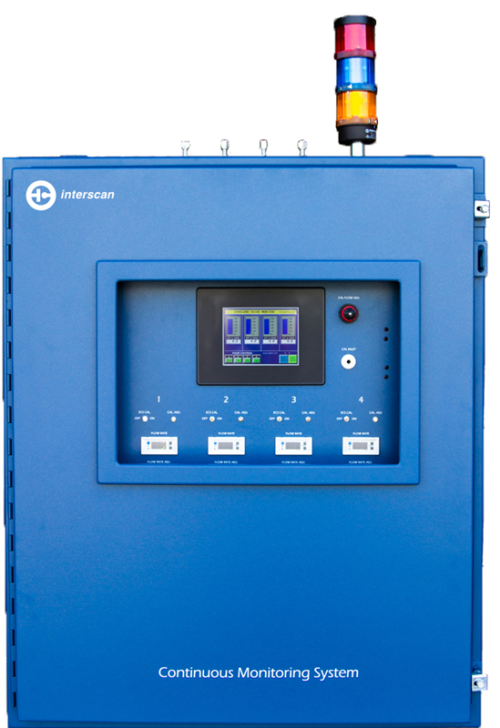Máy dò khí Interscan SRPLC317-500m,-200.0m, -20.0m, -1.00m Three Point Monitoring Systems - PLC Series - Hydrogen Sulfide