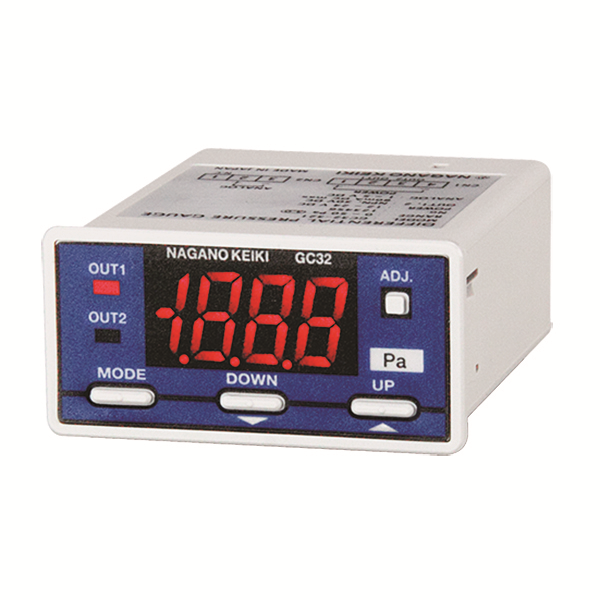 Đồng hò đo áp suất Nagano Keiki model : GC32 Digital Differential Pressure Gauge /For gas measurement (Featuring silicone diaphragm)