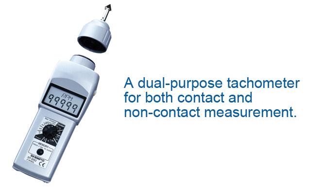 Máy đo tốc độ vòng quay Contact & Non-contact Handheld Tachometer with an LCD Shimpo DT-207LR