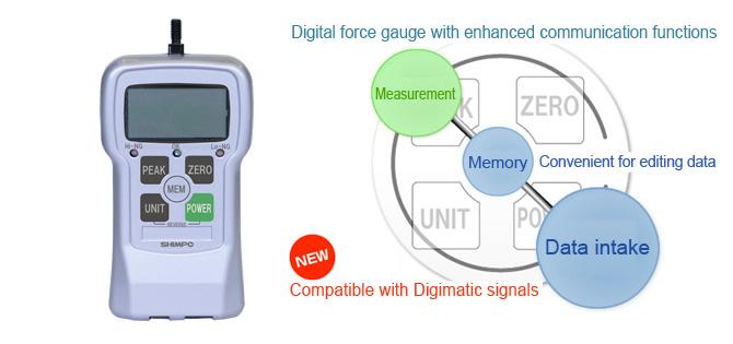 High-performance digital force gauges Shimpo FGPX-02, FGPX-05, FGPX-1, FGPX-2, FGPX-5, FGPX-10, FGPX-20, FGPX-50, FGPX-100