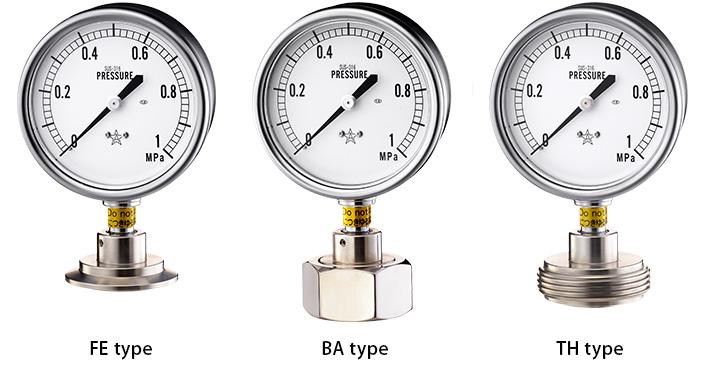 Đồng hồ đo áp suất Migishita FE, BA, TH