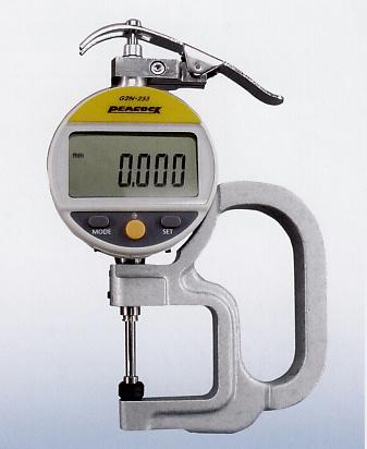 Đồng hồ đo độ dày Peacock G2N-255, Peacock G2N-255M, Peacock G2N-257, Peacock G2N-257M