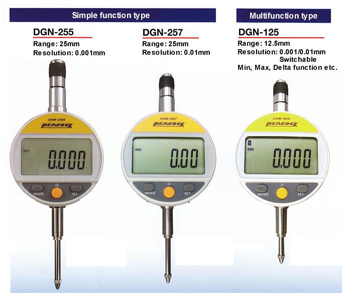 Đồng hồ đo so Peacock DGN-255, Peacock DGN-257, Peacock DGN-125, Peacock DGN-125B