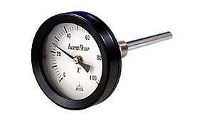 Bimetal thermometer ASK RBT-WT-60, RBT-WT-60-W, NBT-WT-75, NBT-WT-75-W, NBT-WT-100, NBT-WT-100-W, BN-60,75,100, DN-60,75,100