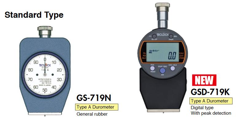Đồng hồ đo độ cứng cao su Teclock GS-719N, GS-719G, GS-719R, GS-720N, GS-720G, GS-720R, GS-721N, GS-721G