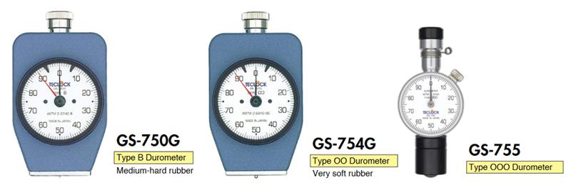 Đồng hồ đo độ cứng cao su Durometer Teclock GS-750G, GS-751G, GS-752G, GS-753G, GS-754G, GS-755, GSD-750K, GSD-751K, GSD-752K, GSD-753K, GSD-754K