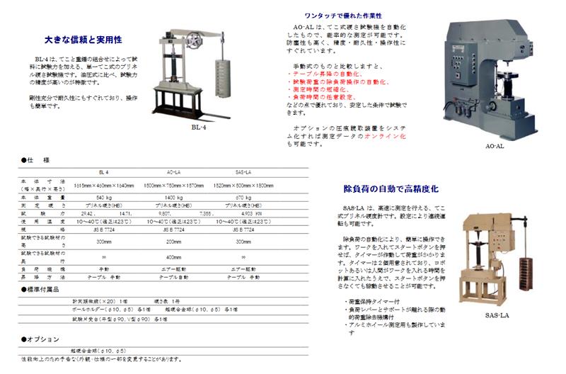 Máy đo độ cứng Brinell hardness tester Imai SAS-LA, Imai BL-4, Imai AO-AL