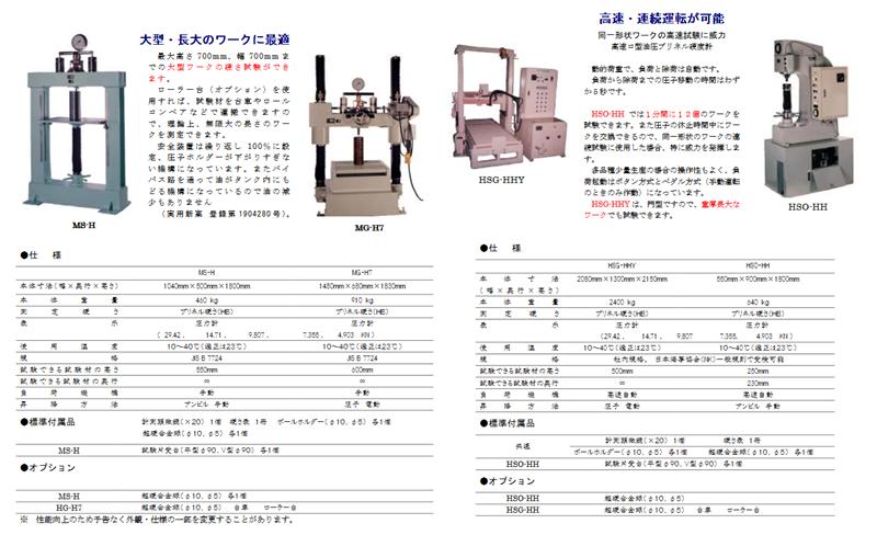 Máy đo độ cứng Brinell hardness tester Imai MS-H, Imai MG-H7, Imai HSG-HHY, Imai HSO-HH