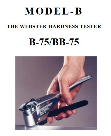 Máy đo độ cứng Webster hardness tester Imai B75, Imai BB-75