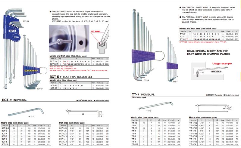 Bộ lục giác Eight TTR-S9, TTR-S9Z, TS-6, TS-7, TS-7S, TS-8, TS-9, TS-9D, TS-8D, TS-7SD