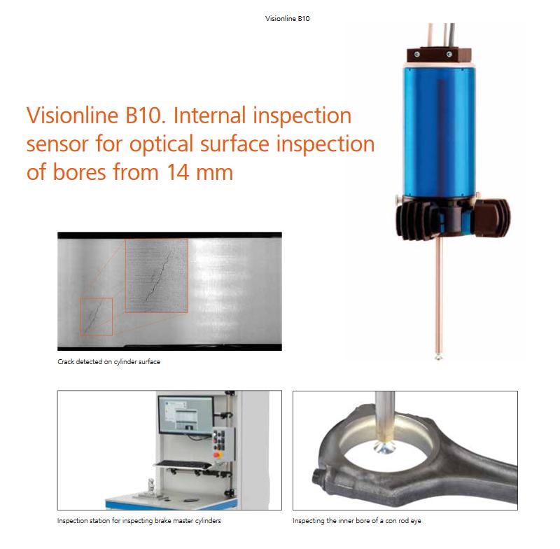 Đầu đo quang học Jenoptik Visionline IPS B10 surface inspection in hydraulic switch blocks