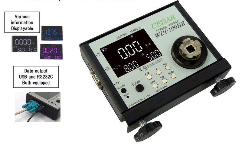 Dụng cụ kiểm tra lực xoắn Digital Torque Meter Cedar WDI-10HR-SJ, WDI-100HR-SJ, WDI-250-SJ, WDI-10HR-OW, WDI-100HR-OW